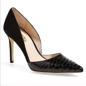 Louise Et Cie Hermosah Pump Suede Croc Leather